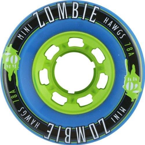 ウィールHawgs Wheels Mini Zombie 青 Skateboard Wheels - 70mm 78a (Set of 4)