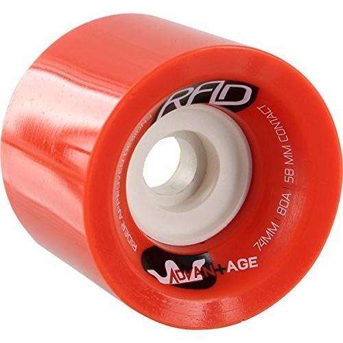 ウィールRad Advantage 74mm 80a 赤/白い Skateboard Wheels (Set Of 4)