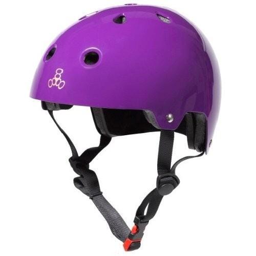 ヘルメットTriple Eight Dual Certified Bike and Skateboard Helmet, Purple Glossy, X-Small / Small