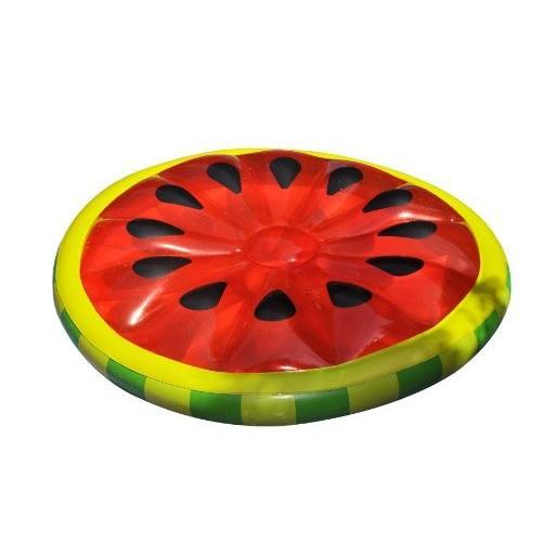フロートSwimline Watermelon Slice Island Inflatable Raft