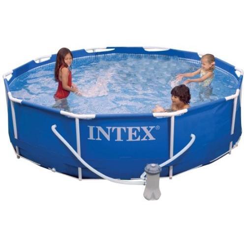 プールIntex Metal Frame Pool Set, 10-Feet x 30-Inch