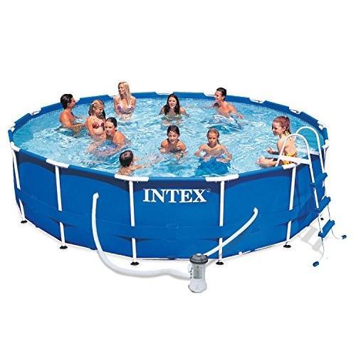 プールIntex Metal Frame Pool Set, 15-Feet x 42-Inch