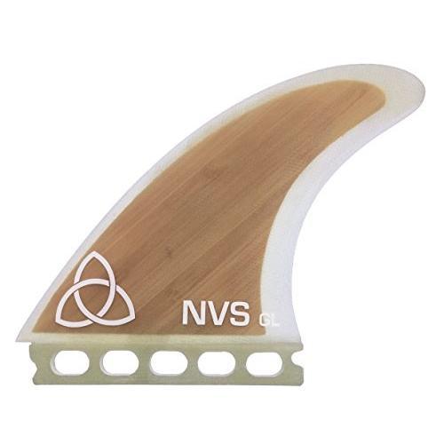 サーフィンNaked Viking Surf Large GL Thruster Surfboard Fins (Set of 3) Bamboo, Futures Base
