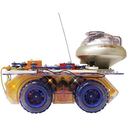 エレンコSnap Circuits Deluxe R/C Snap Rover Electronics Exploration Kit | 40 Fun STEM Projects | 4-Color Project Manual | 50+