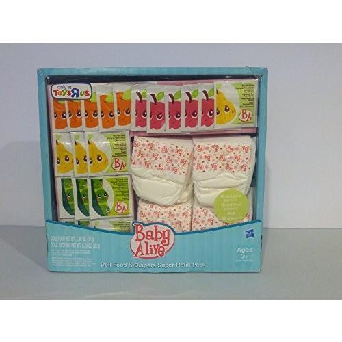 ベビーアライブBaby Alive Doll Food and Diapers, Super Refill Pack