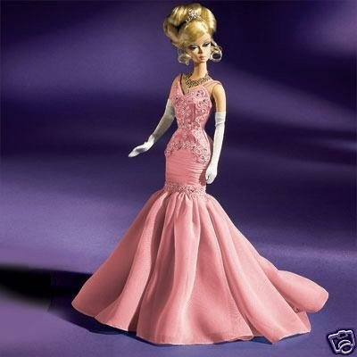 バービーBarbie Platinum Silkstone Soiree Fashion Model Doll