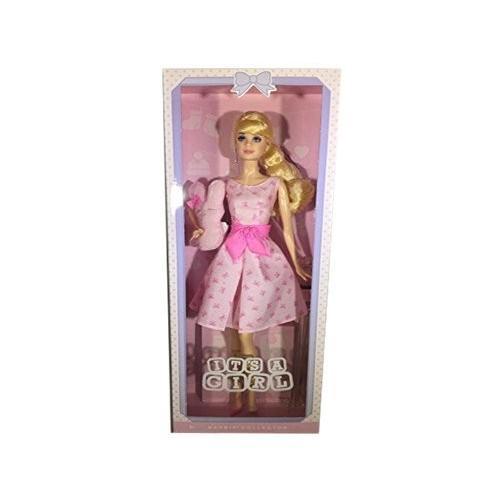 バービーBarbie Collector It's A Girl with Stuffed Bunny and Doll Stand