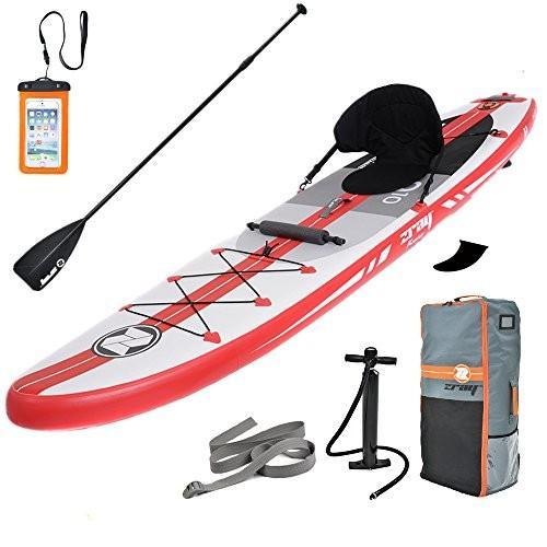 スタンドアップパドルボードZray Inflatable Stand Up Paddle Board SUP Comes with High Pressure Pump with Gauge/Adjustab