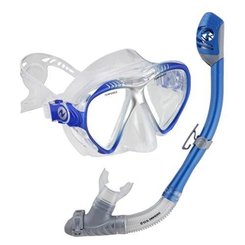 シュノーケリングU.S. Divers Adult Magellan Purge LX Mask/Tucson LX Snorkel (Elect. 青)