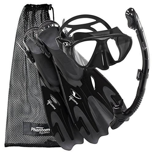 シュノーケリングPhantom Aquatics Navigator Mask Fin Snorkel Set