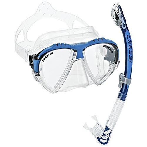 シュノーケリングCressi Matrix Mask & Alpha Dry Snorkel Set, 青