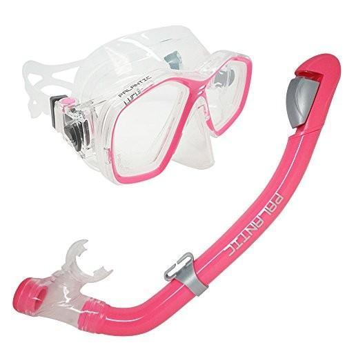 シュノーケリングPalantic Pink Jr. Snorkeling Prescription Dive Mask & Dry Snorkel Combo (-2.5)