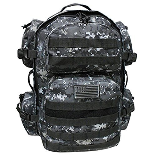 dad126a57381 ミリタリーバックパックNPUSA Mens Large Daypack Expandable Bag ...
