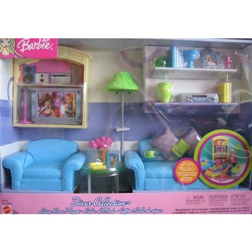 バービーBarbie Decor Collection Living Room Playset - Multi-Lingual Box (2003)