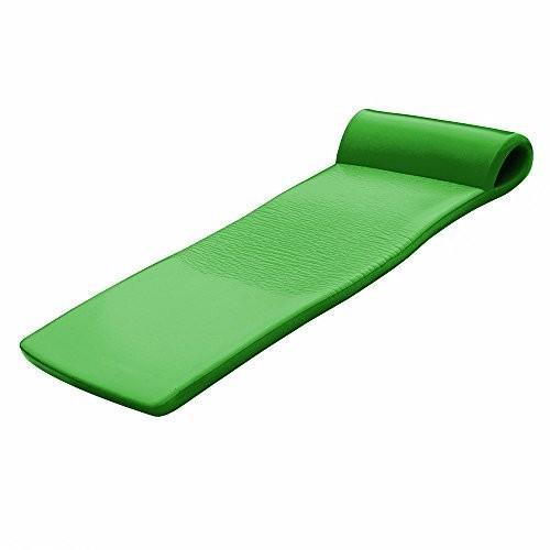 フロートCalifornia Sun Deluxe Oversized Unsinkable Foam Cushion Pool Float - Kiwi 緑