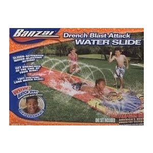 フロートBanzai Drench Blast Attack Water Slide - 16 ft