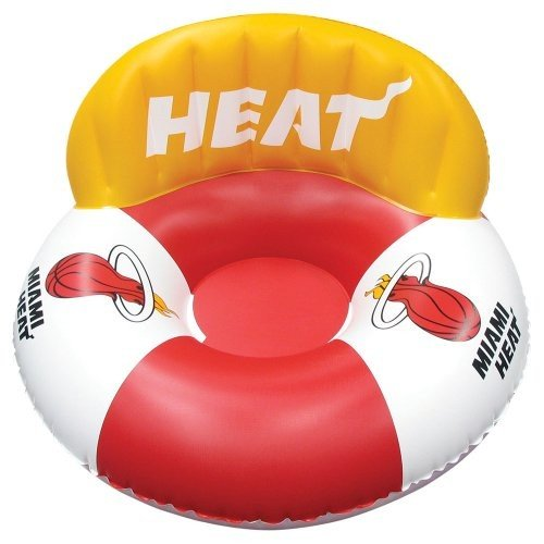 フロートPoolmaster Miami Heat NBA Swimming Pool Float, Luxury Drifter
