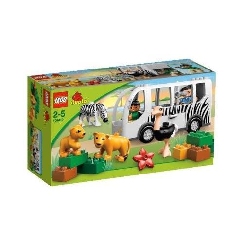 レゴLego Duplo 10502 Zoo Bus Safari Animals Ostrich Zebra Lioness Lion New in Box Special Gift Fast Shipping and Ship Worldwide