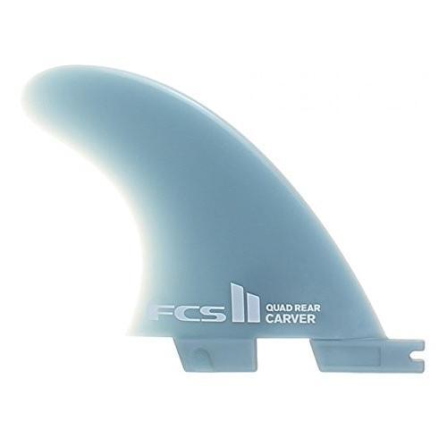サーフィンFCS II Carver GF Quad Rear Side-Bytes Surfboard Fin Set - Small