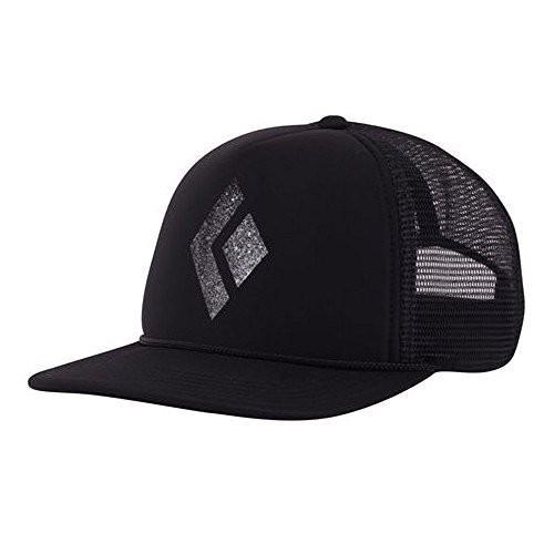海外正規品黒 Diamond Unisex Flat Bill Trucker Hat 黒/白い One Size