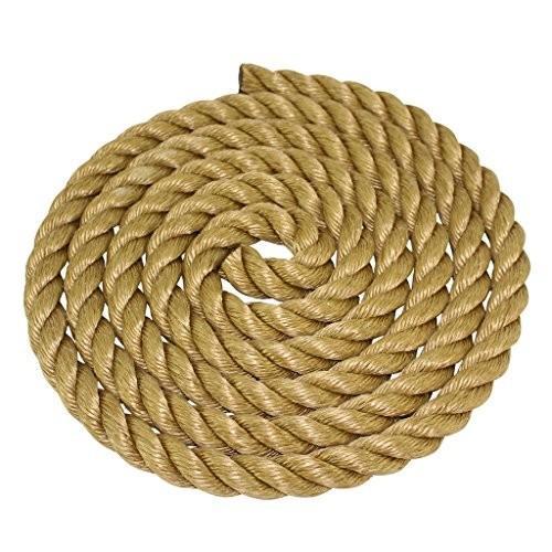 海外正規品SGT KNOTS ProManila Rope (3/4 inch) UnManila Tan Twisted 3 Strand Polypropylene Cord - Moisture, UV, and Chemical R