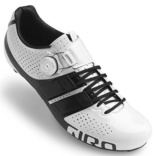 海外正規品Giro Factor Techlace Road Cycling Shoes White/Black 45