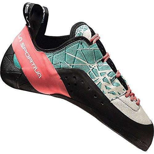 海外正規品LA SPORTIVA KATAKI Women's Climbing Shoe, Mint/Coral, 42