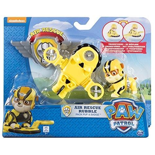 パウパトロールPaw Patrol, Air Rescue Rubble, Pup Pack & Badge