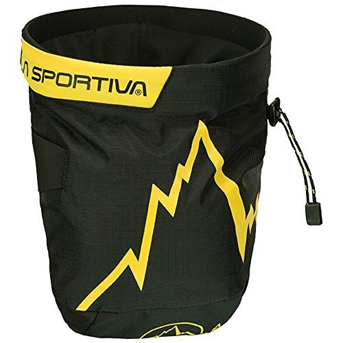 海外正規品La Sportiva Laspo Chalk Bag, Black, 1 Size