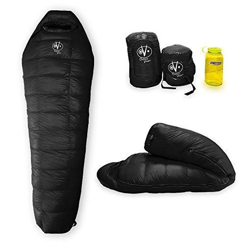 アウトドアOutdoor Vitals Summit 0°F - 20°-30°F Down Sleeping Bag, 800 Fill Power, Mummy, Ultralight, Camping, Hiking