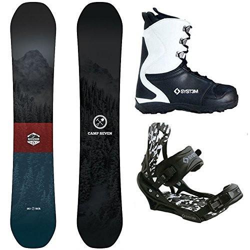 スノーボードCamp Seven Package 赤wood Snowboard 158 cm Wide-System APX Bindings-System APX Boot 8