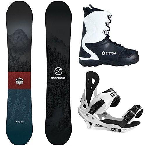スノーボードCamp Seven Package 赤wood Snowboard 153 cm Summit Bindings-System APX Boot 11