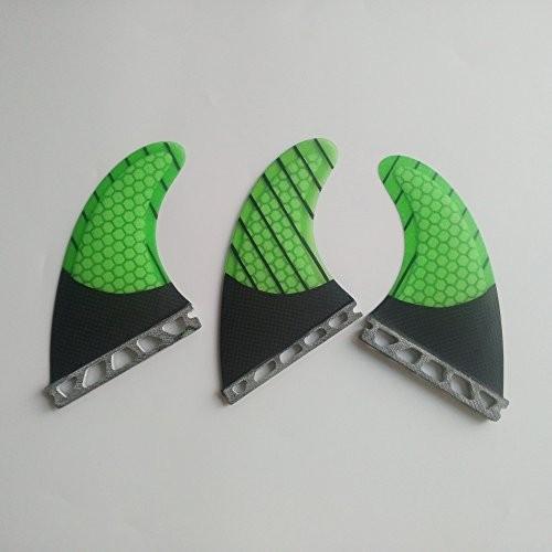 サーフィンUPSURF Surfboard 3 FCS/Future Fins Carbon+Fiberglass+Honeycomb M Size tri Fin G5 (緑 Future)