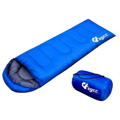 アウトドアegoz Easy to Carry Blue Warm Adult Sleeping Bag Outdoor Sports Camping Hiking with Carry Bag