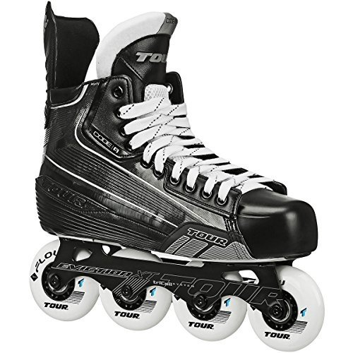インラインスケートTOUR Code 5 Junior Inline Hockey Skates Black Size: 1 Black