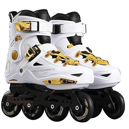 インラインスケートTX Inline Skates for Men Unisex Racing PP Material 3D Aluminum Alloy Bracket PVC High Elasticity PU Whe