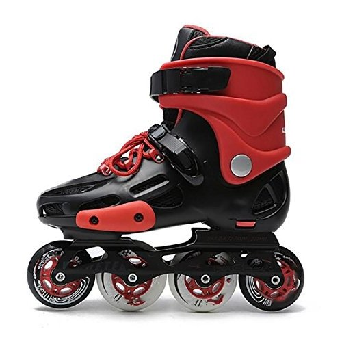 インラインスケートTX Inline Skates for Men Unisex Racing PP Material Aluminum CNC Stent PU Perfusion Wheel Red, 36