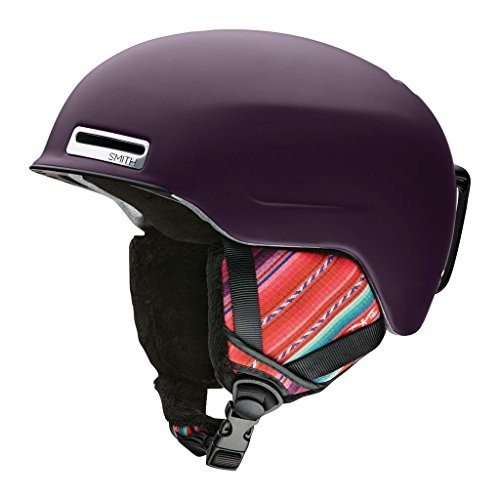 スノーボードSmith ALLURE ASIAN FIT Snow Helmet (MATTE 黒 CHERRY CUZCO,MEDIUM)