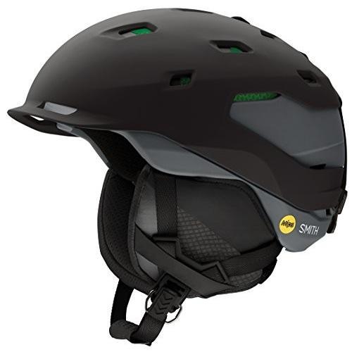 スノーボードSmith Optics Quantum Asian Fit MIPS Snow Helmet - Matte 黒 Charcoal / Medium