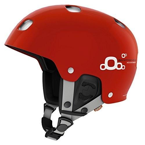 スノーボードPOC Receptor Bug Adjustable 2.0 Ski Helmet, Bohrium 赤, X-Small/Small