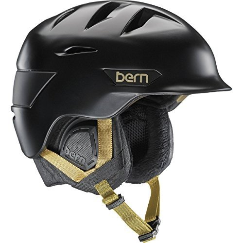 スノーボードBERN Hepburn Helmet - Women's 2016 - Satin 黒 w/黒 Liner, xs/s
