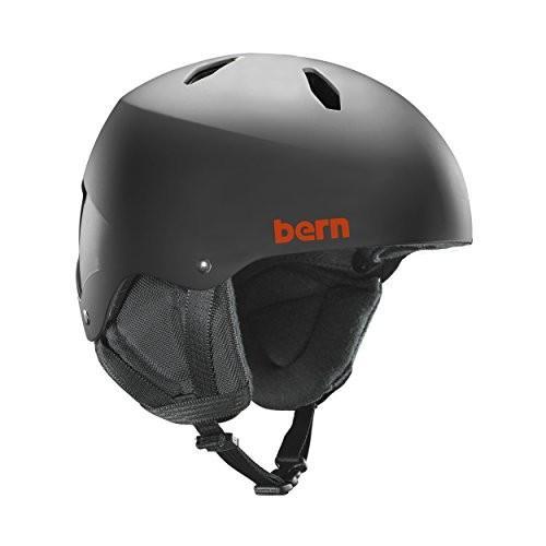 スノーボードBERN Team Diablo Jr Helmet - Kid's Matte 黒/黒 Liner Medium