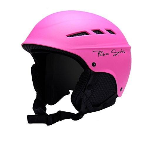 スノーボードPHIBEE Unisex Snow Sport Lightweight EPS Outdoor Ski Helmet ピンク S