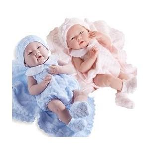 ジェーシートイズJC Toys La Newborn Pretty Knit Girl and Boy Twin Dolls Baby Dolls