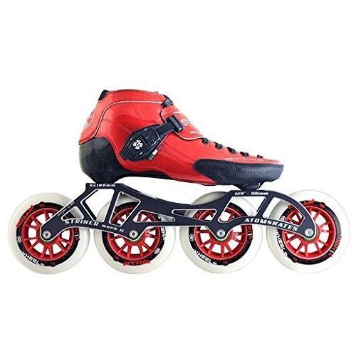 インラインスケートLuigino Strut Red Boot, Striker 4x100 12.4