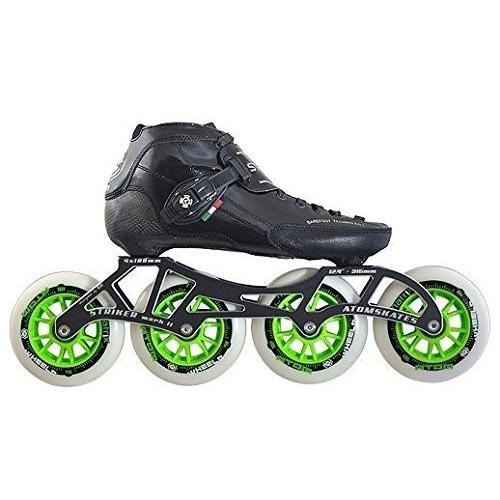 インラインスケートLuigino Strut Black Boot, Striker 4x100 12.4