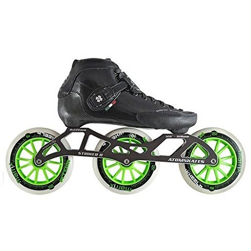 インラインスケートLuigino Strut Black Boot, Striker 3x125 11.8