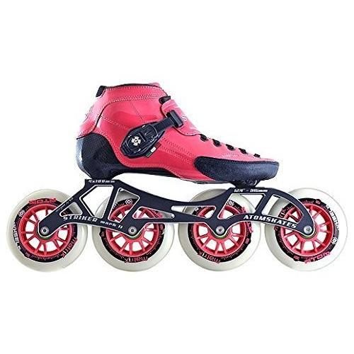 インラインスケートLuigino Strut Pink Boot, Striker 4x100 12.0