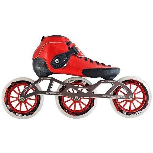 インラインスケートLuigino Strut Red Boot, Striker 3x125 12.6