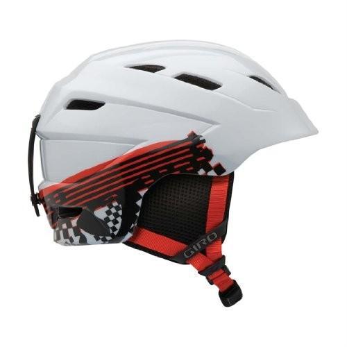 スノーボードGiro Youth Nine.10 Jr Snow Helmet (白い Logo Streak, Small)